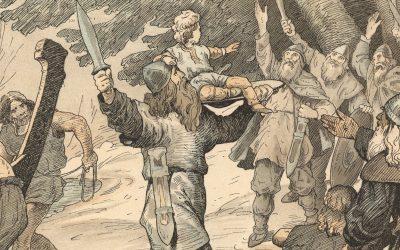 """Episode 1: """"Kongerækken"""" om sagnkongerne: Kong Skjold – Skjoldungernes stamfader"""